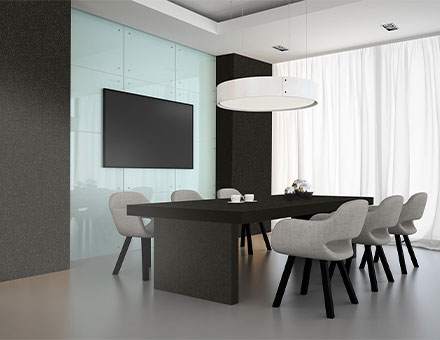 Charcoal black Modern meeting room