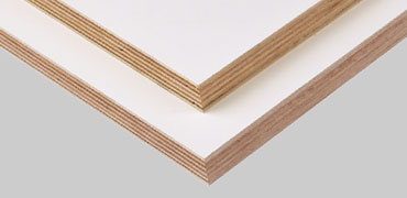 Prelaminated warm white BSL plywood